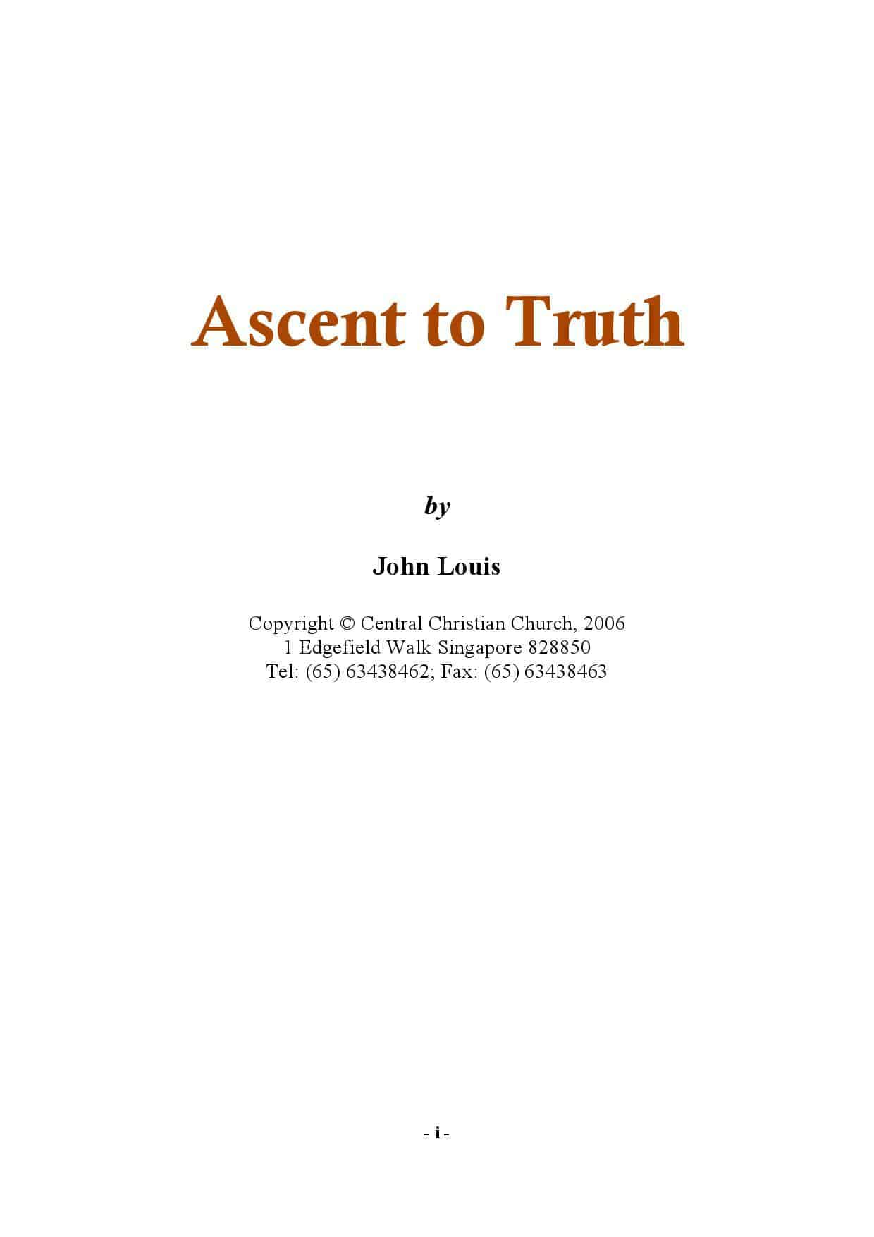 Ascent to Truth (2007)