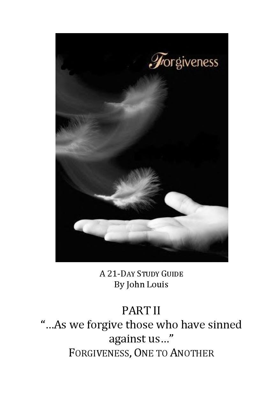 Forgiveness QT Book 2