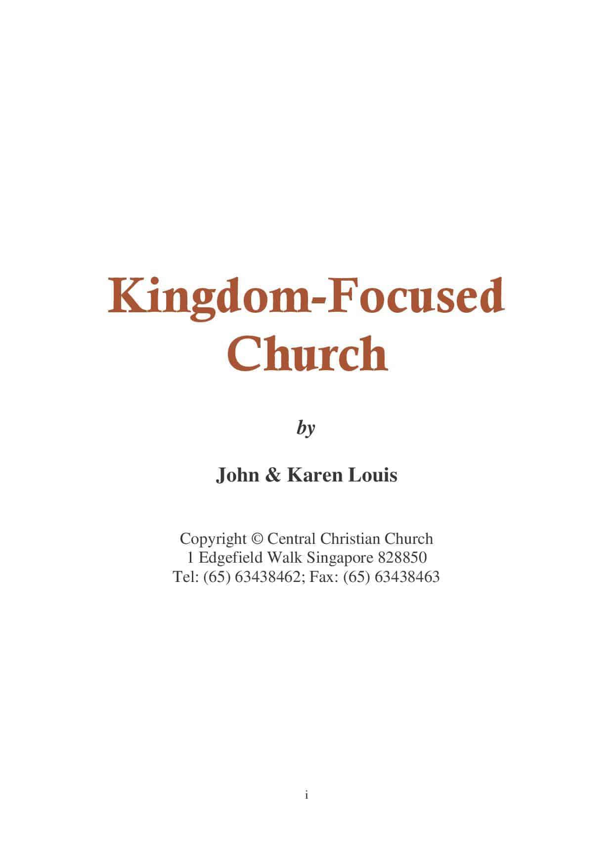 Kingdom-Focused Church (2007)